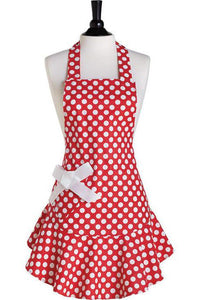 Red & White Polka Dot Josephine Apron