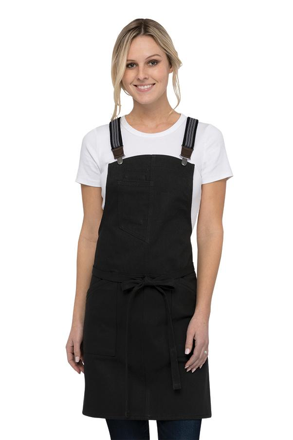 Berkeley Womens Black Petite Bib Apron