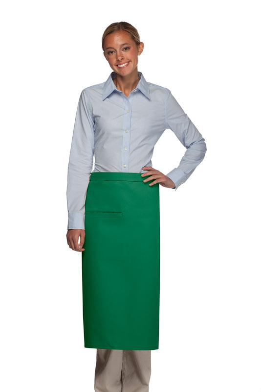 Kelly Green 1 Inset Pocket Full Bistro Apron