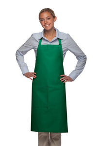Kelly Green 1 Pocket Adjustable Butcher Apron