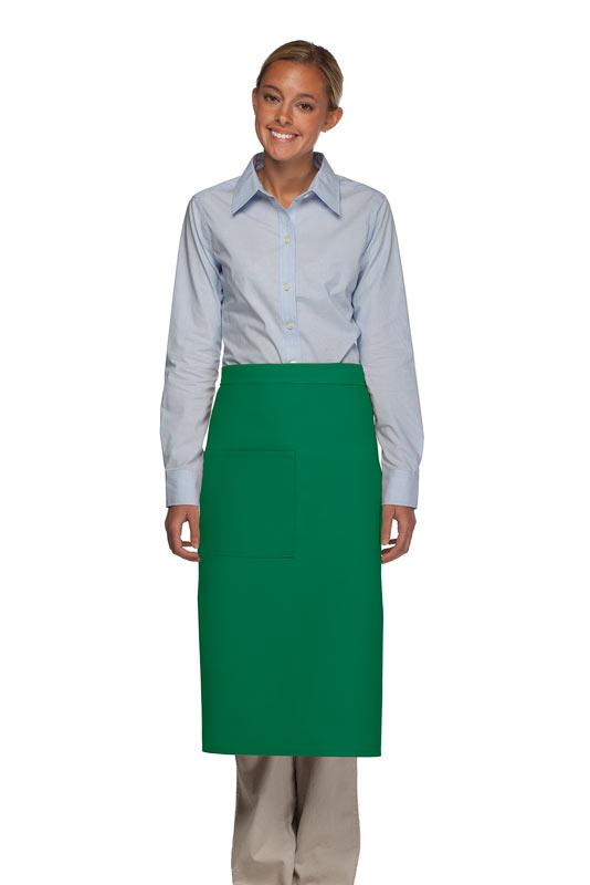 Kelly Green 1 Pocket Full Bistro Apron