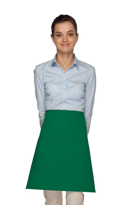 Kelly Green 1 Pocket Half Bistro Apron