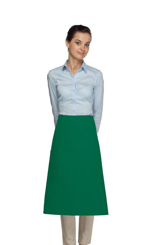 Kelly Green 1 Pocket Three Quarter Bistro Apron