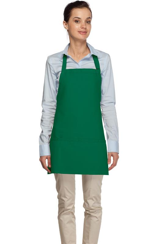 Kelly Green 3 Pocket Bib Apron