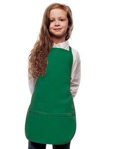 Kelly Green Kids 2 Pocket Bib Apron