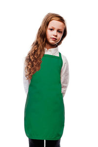 Kelly Green Kids No Pocket Bib Apron