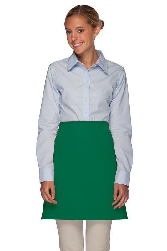 Kelly Green No Pocket Half Bistro Apron