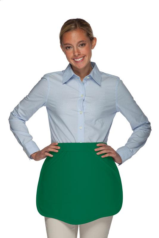 Kelly Green Scalloped Waist Apron