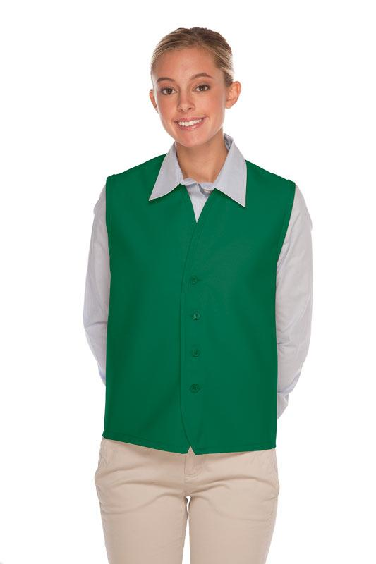 Kelly 4-Button Unisex Vest with No Pockets