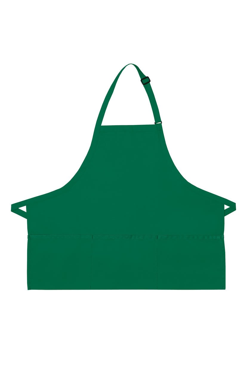 Kelly Deluxe Bib XL Adjustable Apron (3 Pockets)