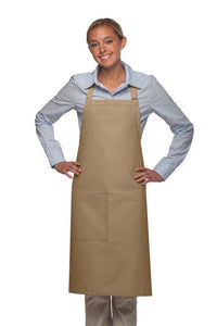 Khaki 1 Pocket Adjustable Butcher Apron
