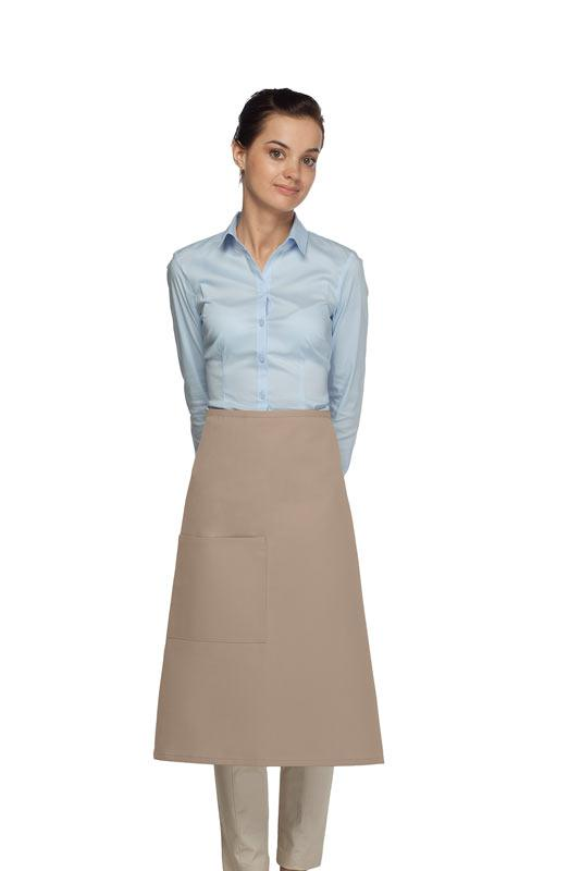 Khaki 1 Pocket Three Quarter Bistro Apron