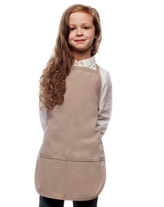 Khaki Kids 2 Pocket Bib Apron