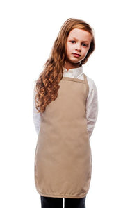 Khaki Kids No Pocket Bib Apron
