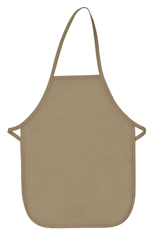 Khaki Kid's XL Bib Apron (No Pockets)