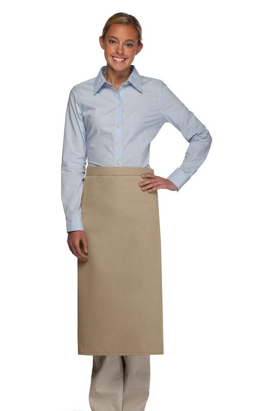 Khaki No Pocket Full Bistro Apron