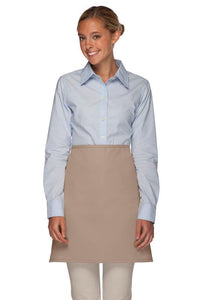 Khaki No Pocket Half Bistro Apron