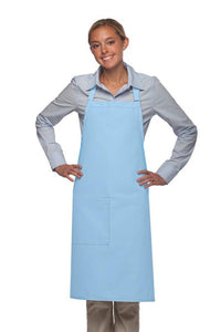 Light Blue 1 Pocket Adjustable Butcher Apron