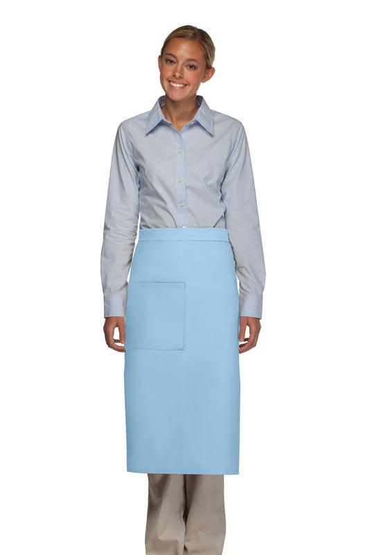 Light Blue 1 Pocket Full Bistro Apron