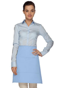 Light Blue 2 Pocket Half Bistro Apron