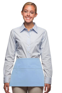 Light Blue 3-Pocket Waist Apron