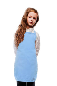 Light Blue Kids No Pocket Bib Apron