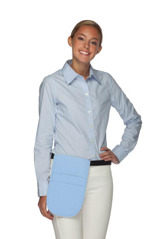 Light Blue Money Pouch Apron