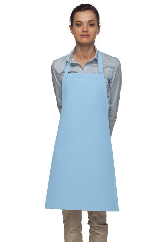 Light Blue No Pocket Adjustable Bib Apron