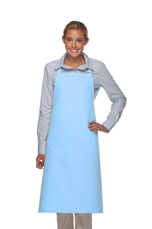 Light Blue No Pocket Adjustable XL Butcher Apron