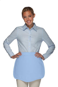 Light Blue Scalloped Waist Apron
