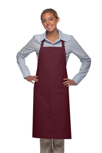 Maroon 1 Pocket Adjustable Butcher Apron