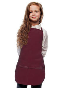 Maroon Kids 2 Pocket Bib Apron