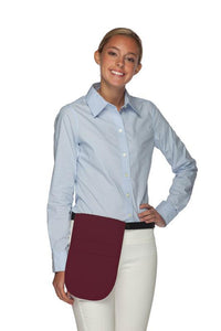 Maroon Money Pouch Apron