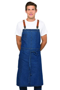 Berkeley Medium Blue Chef's Bib Apron