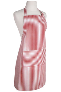 Narrow Stripes Modern Red Apron