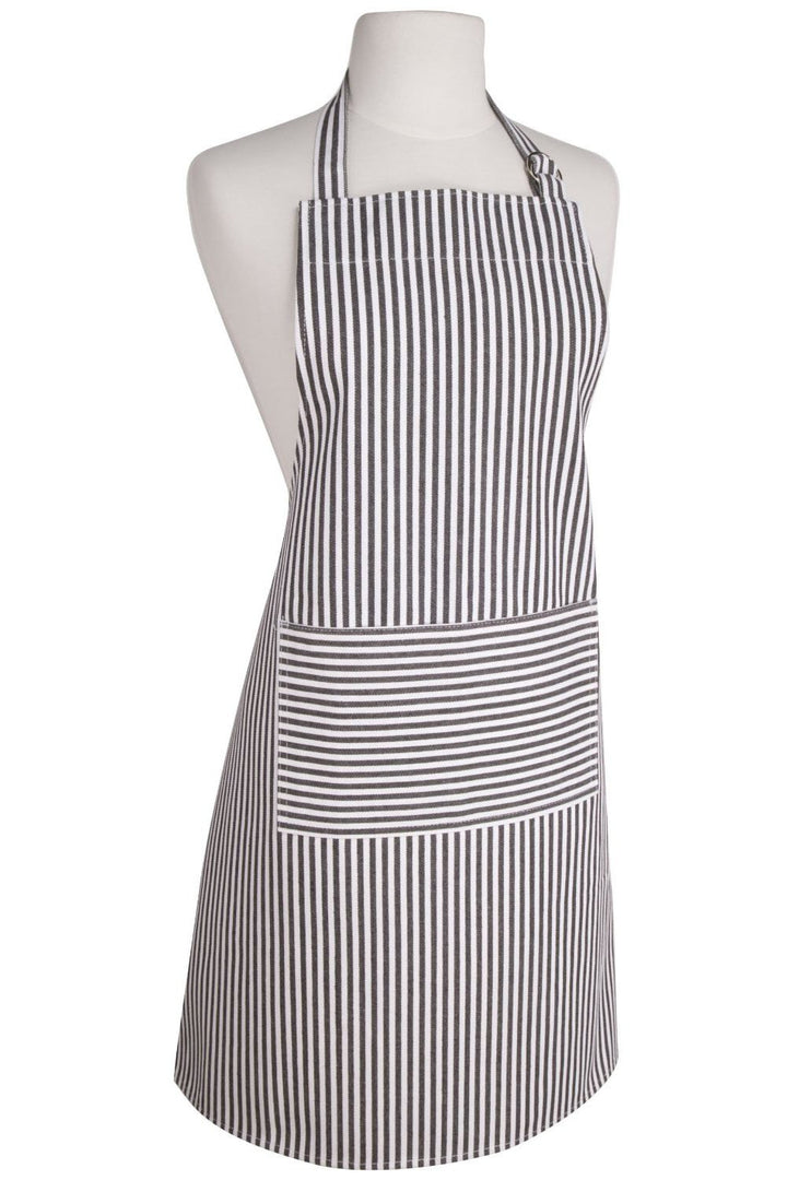 Narrow Striped Modern Black Apron