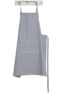 Narrow Stripes Modern Royal Blue Apron