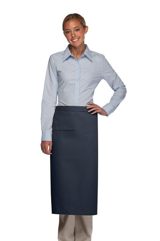 Navy 1 Inset Pocket Full Bistro Apron