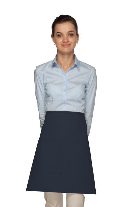 Navy 1 Pocket Half Bistro Apron