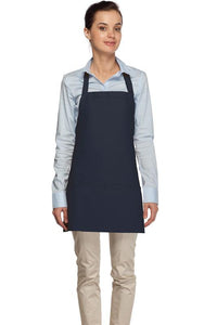 Navy 3 Pocket Bib Apron