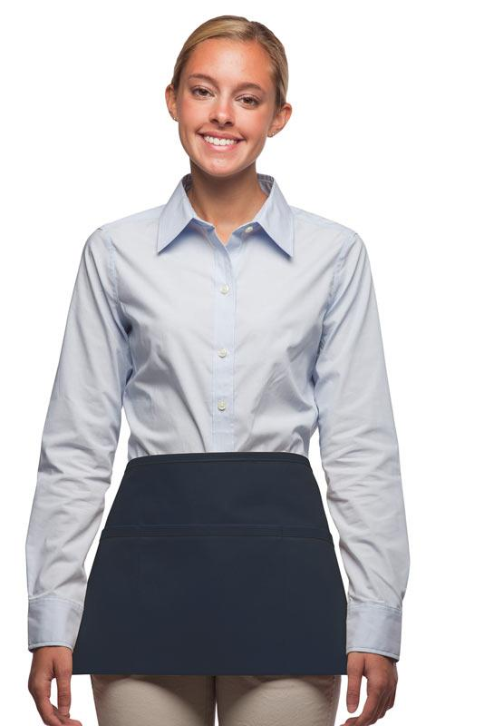 Navy 3-Pocket Waist Apron