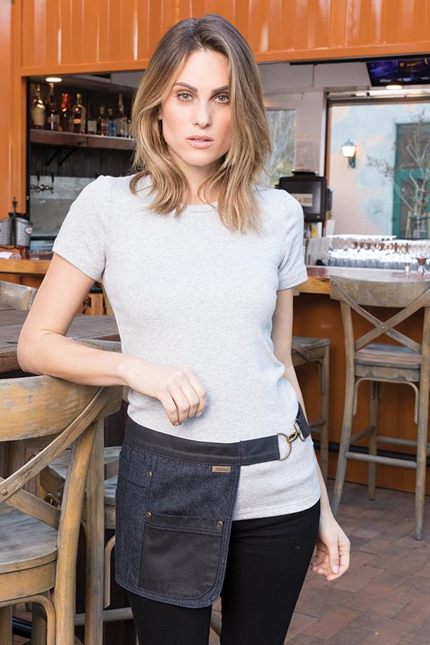 Indy Hipster Navy Black Waist Apron