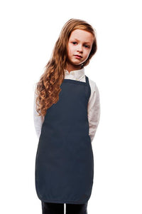 Navy Kids No Pocket Bib Apron