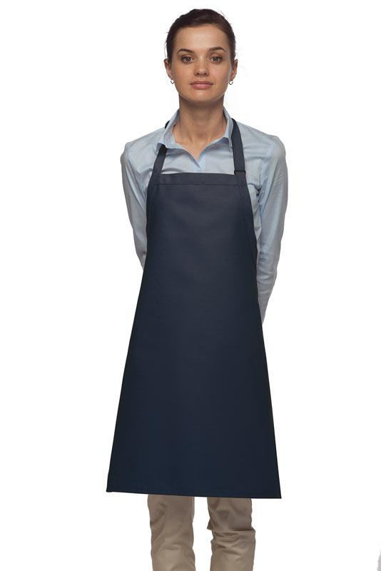 Navy No Pocket Adjustable Bib Apron