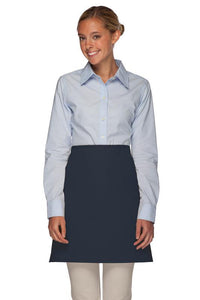 Navy No Pocket Half Bistro Apron