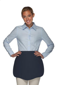 Navy Scalloped Waist Apron