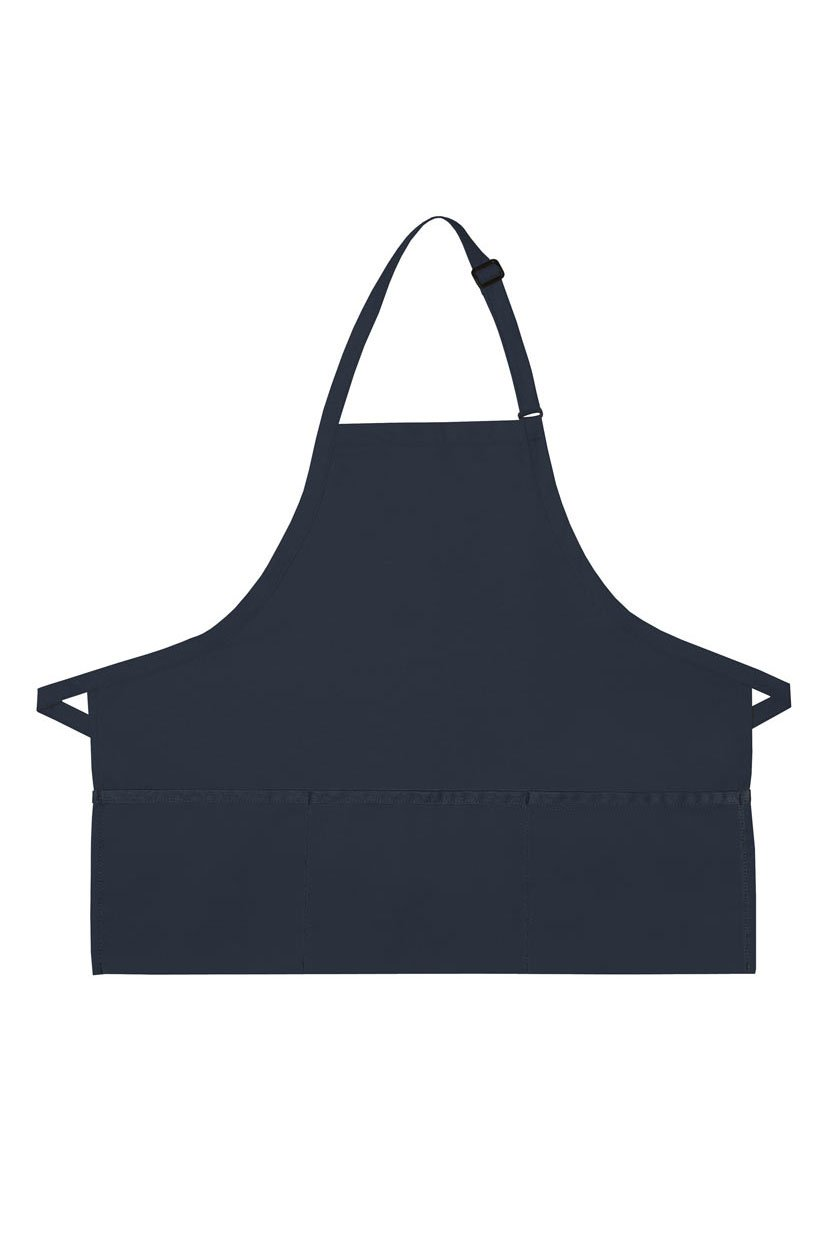 Navy Deluxe Bib XL Adjustable Apron (3 Pockets)