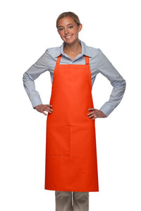Orange 1 Pocket Adjustable Butcher Apron