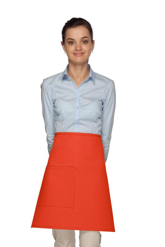 Orange 1 Pocket Half Bistro Apron