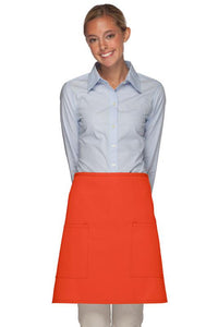 Orange 2 Patch Pocket Half Bistro Apron
